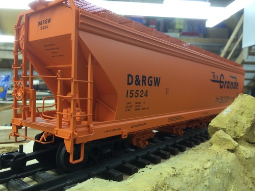 USA Trains, Spur G Scale, Rio Grande Grain Hopper, Denver Rio Grande